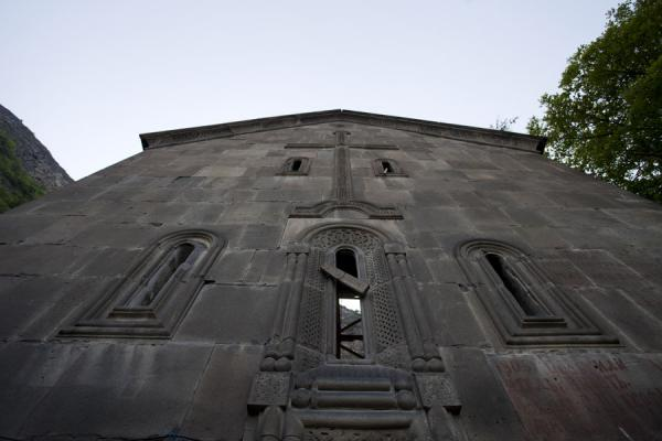 Picture of Kobayr Monastery (Armenia): The wall of Kobayr Monastery with carved cross