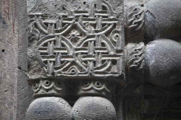 Detail of carved stones at the church of Kobayr Monastery | Kobayr Monastery | Armenia