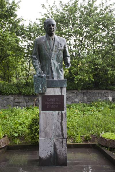 Sculpture of Artyom Mikoyan near the small Mikoyan museum in Sanahin | Mikoyan museum | Armenia