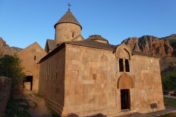 Picture of St John the Baptist church with double tympanum in the late afternoon - Armenia - Asia
