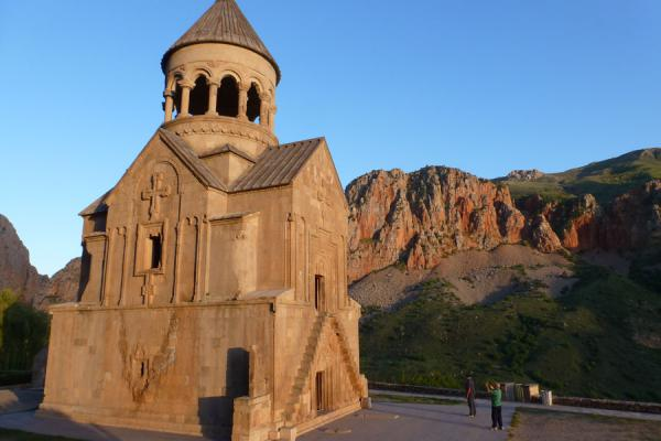 Picture of The Astvatsatsin or Mother of God church just before sunsetNoravank - Armenia