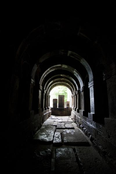 Arcaded gallery between the Mother of God church and the Church of the Holy Redeemer | Sanahin Monastery | Armenia