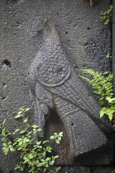 Bird carved out of stone at the Sanahin Monastery | Sanahin Monastery | Armenia