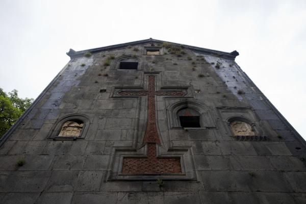 Picture of A huge cross decorates the side wall of the Sanahin Monastery