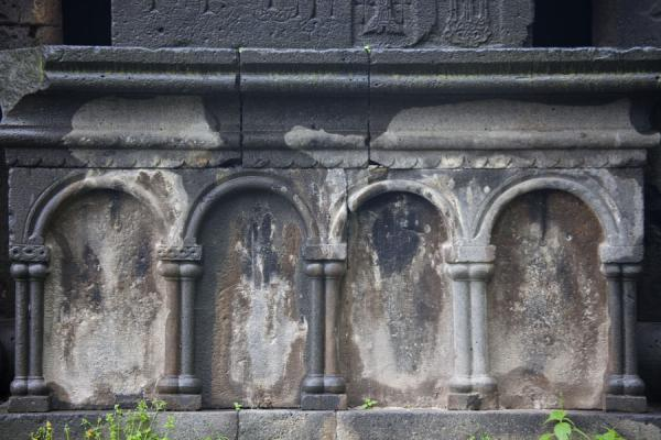Picture of Sanahin Monastery (Armenia): Detail of the outer wall of the gavit of the Mother of God church