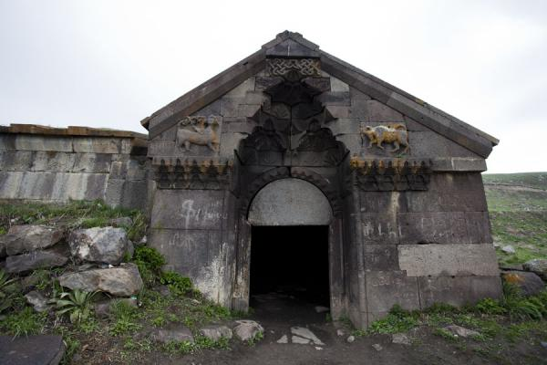 Picture of Selim caravanserai (Armenia): Animals carved out in the wall above the Selim caravanserai