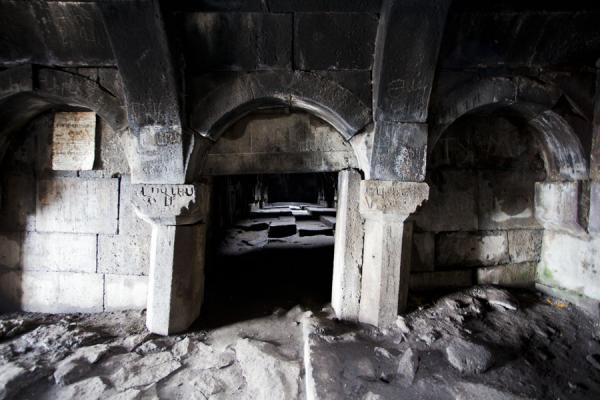 Picture of Looking into the large hall of Selim caravanserai from the entrance hall