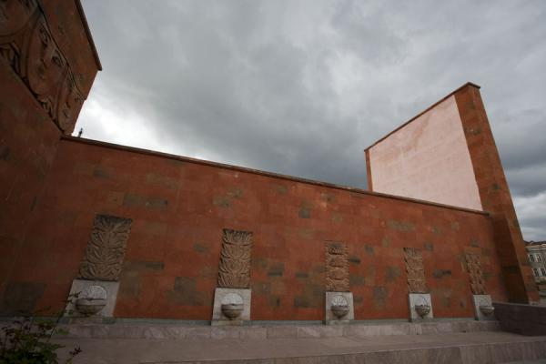 Wall of Triumph with bass-reliefs is part of the memorial complex | Stepanakert Memorial Complex | Armenia