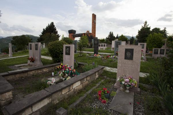 Graves of soldiers who died in the Nagorno Karabagh war in the early 1990s | Stepanakert Memorial Complex | Armenia