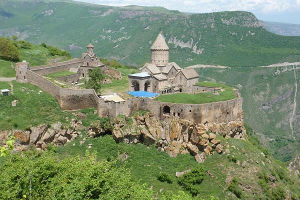 Tatev Monastery and fortifications seen from a distance | Tatev Monastery | Armenia
