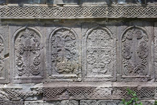 Carvings at the tomb of Grigor Tatevatsi in the Tatev Monastery | Tatev Monastery | Armenia