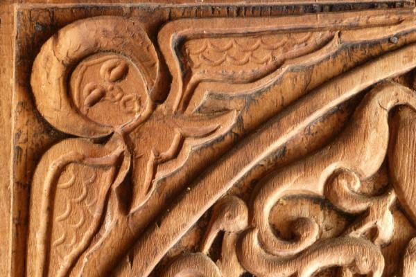 Detail of a wooden carving in Tatev Monastery | Tatev Monastery | Armenia
