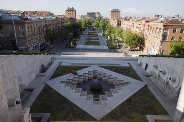 View over Yerevan from the lower levels of the Cascade | Yerevan Cascade | Armenia