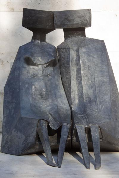 Picture of Yerevan Cascade (Armenia): Sitting forms, bronze by Lynn Chadwick in the small park at the foot of the Cascade