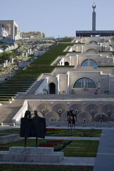 Picture of Yerevan Cascade (Armenia): View of the Cascade from the small park right below it