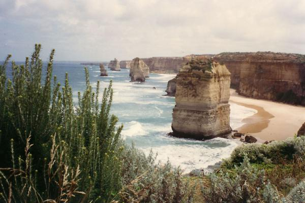 Foto van Some Apostles standing in the oceanGreat Ocean Road - Australië