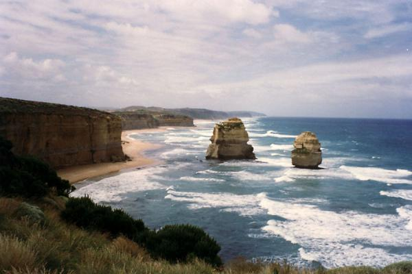 Foto van Beach near the cliffsGreat Ocean Road - Australië