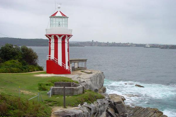 Foto di Lighthouse guarding the entrance to Sydney HarbourPorto di Sydney - Australia