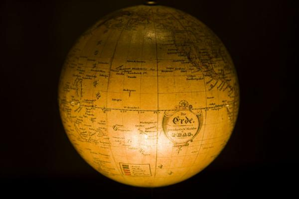 Picture of Globe museum (Austria): Terrestrial globe produced in Prague on display in the Globe museum