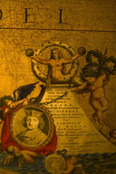 Foto van Richly decorated detail of a globe produced by famous globe-maker CoronelliWenen - Oostenrijk