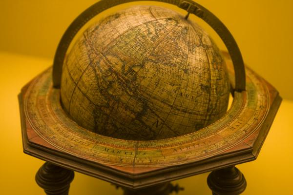 Picture of Globe museum (Austria): Terrestrial globe on display in the museum