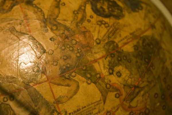 Detail of a celestial globe in the museum | Museo de los Globos | Austria