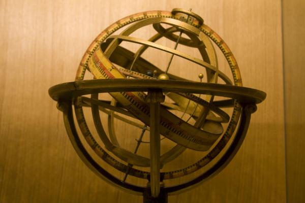 Foto van One of the more special globes on display in the Globe Museum: armillary sphereWenen - Oostenrijk