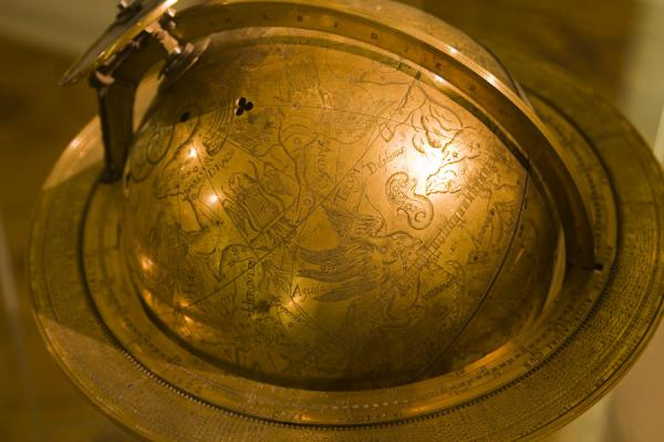Picture of Globe museum (Austria): Globe made from metal on display in the museum