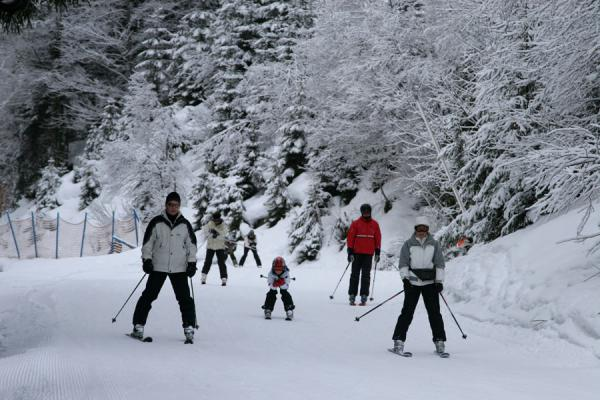 Picture of Skiing down a slope of the St. Johann ski areaSt. Johann - Austria
