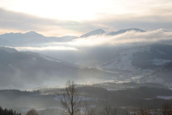 Picture of Sunlight and clouds over the countryside around St. JohannSt. Johann - Austria