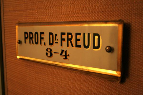 Picture of Sigmund Freud: one of his original name plates - Austria - Europe