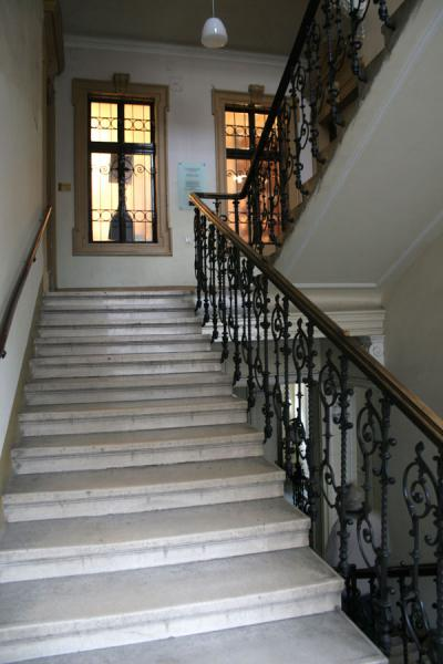Picture of Sigmund Freud: stairs leading up to his former house and museum
