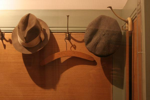Hats, hanger, and cane used by Sigmund Freud | Sigmund Freud Museum | Austria