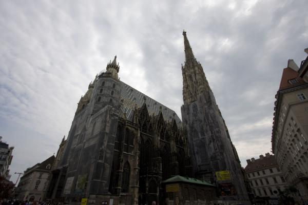 Picture of Looking up at the Stephansdom from an angle