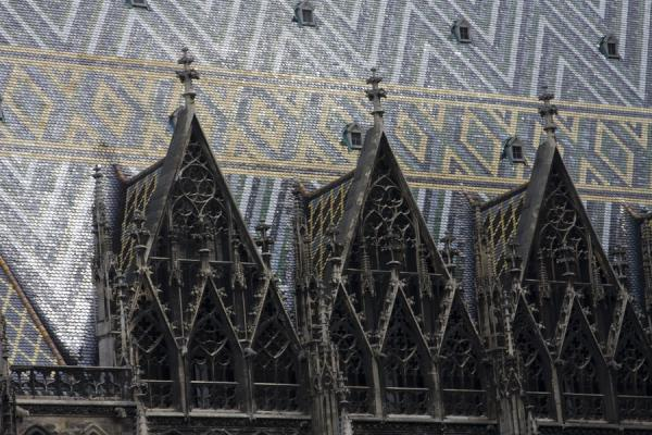 Close-up of the roof of the Stephansdom | Stefansdom | Oostenrijk