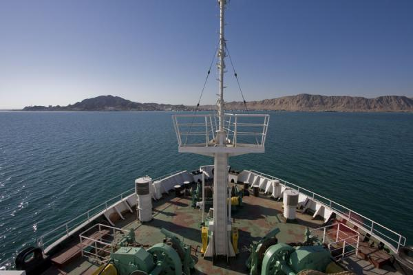 Picture of Arrival of ferry in Turkmenbashy harbour - Azerbaijan - Asia