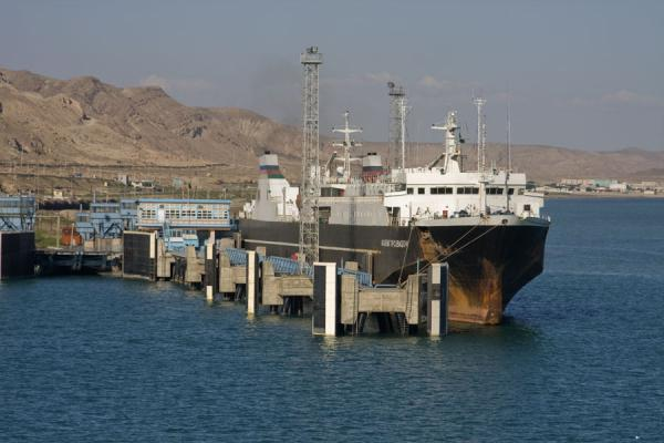 Picture of Ferry in Turkmenbashy harbour