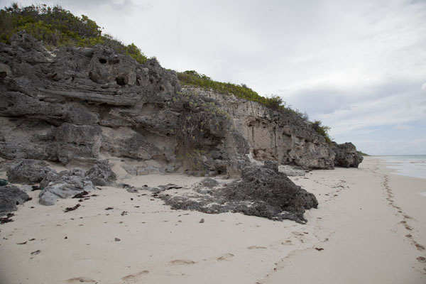Picture of The beach with rocks on the eastern side of Cat IslandColumbus Point - Bahamas