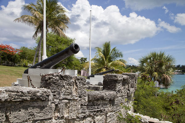 Picture of Battery of cannons at Roundhead in Dunmore TownHarbour Island - Bahamas