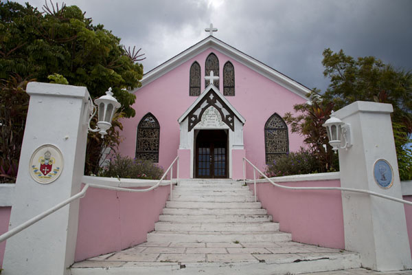 Picture of Pink St Johns Anglican Church in Dunmore TownHarbour Island - Bahamas