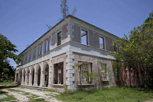 The Haunted House stands roofless on the western side of Dunmore Town | Dunmore Town | Bahamas