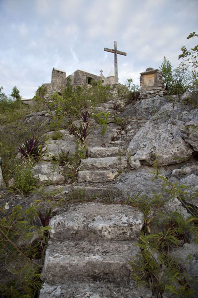 Picture of Steps hewn out in the rocks of Mount Alvernia leading up to the hermitage