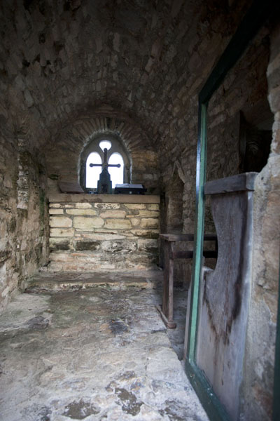 The interior of the tiny church of the hermitage on top of Mount Alvernia | Mount Alvernia Hermitage | Bahamas