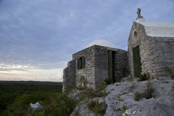 Side view of the hermitage of Mount Alvernia at the end of the day | Mount Alvernia Hermitage | Bahamas