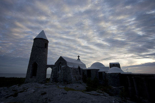 Picture of Mount Alvernia Hermitage (Bahamas): Cloudy sky over the hermitage at Mount Alvernia just before sunset