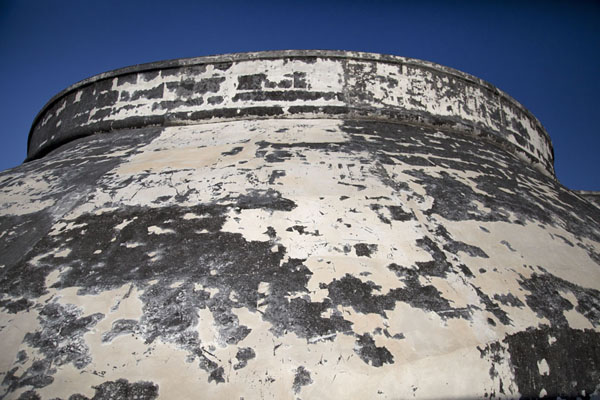 Picture of Looking up the thick walls of Fort Charlotte, which was never usedNassau - Bahamas