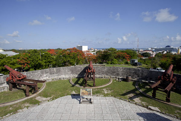 Picture of Cannons on the walls of Fort Fincastle pointed towards the sea - Bahamas - Americas