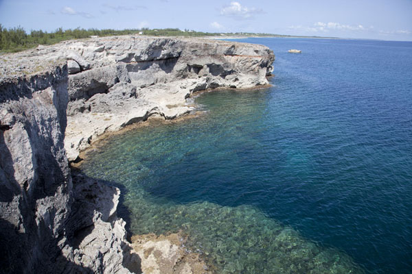 Picture of Rainbow Cliffs (Bahamas): Rainbow Cliffs rise out of the Atlantic Ocean on the ocean side of Eleuthera Island