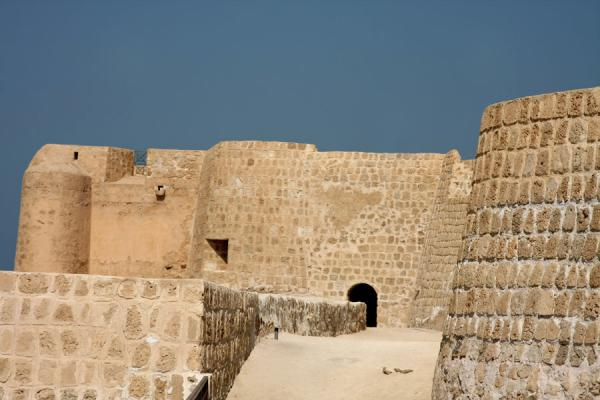 Bahrain Fort with part of the defensive wall | Bahrain Fort | Bahrain