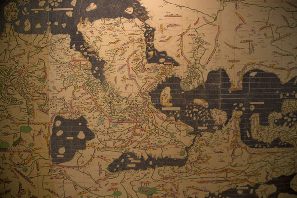 Old map which is drawn upside-down | Bahrain National Museum | Bahrain